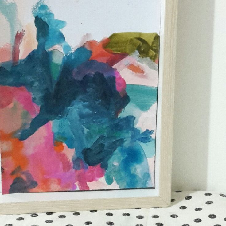 Watercolour painting blue colourful