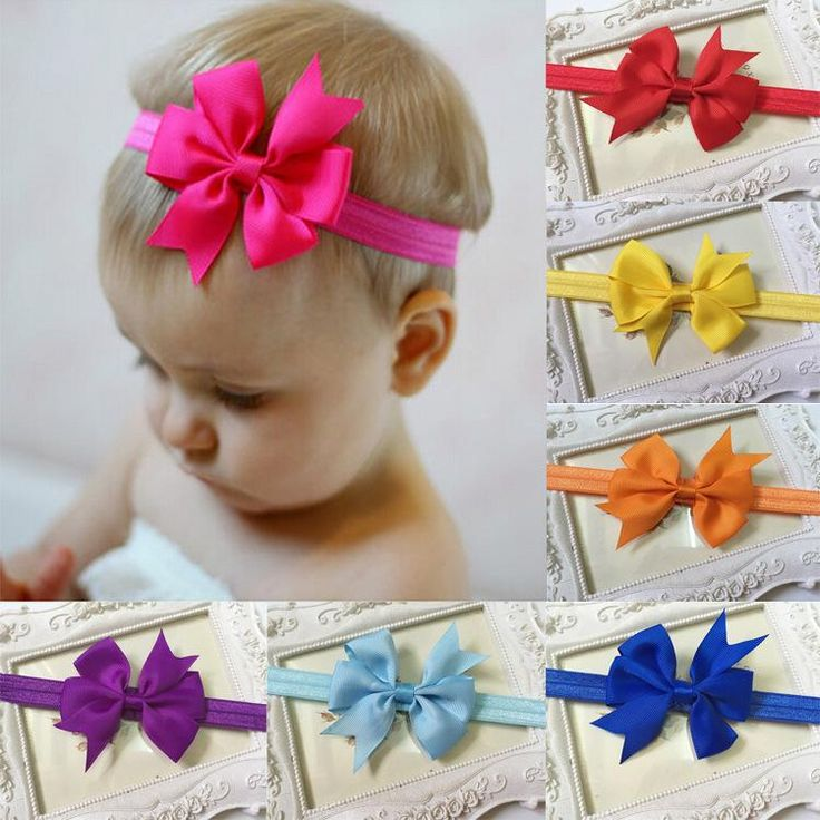 Bowknot Kids Hair Accessories Girl Hair Bow Headband DIY Grosgrain Ribbon Bow Elastic Hair Bands For Newborn Infant Toddler Hair Accessories Online with $0.42/Piece on Worldfashionoutlet's Store | DHgate.com
