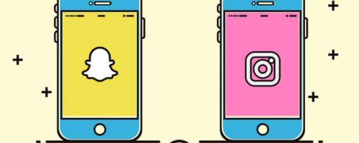 Comparatif des stories Snapchat versus les stories Instagram