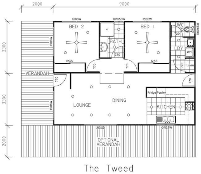two bedroom house plans for small land two bedroom house plans front porch optional porch - Sample House Plans 2