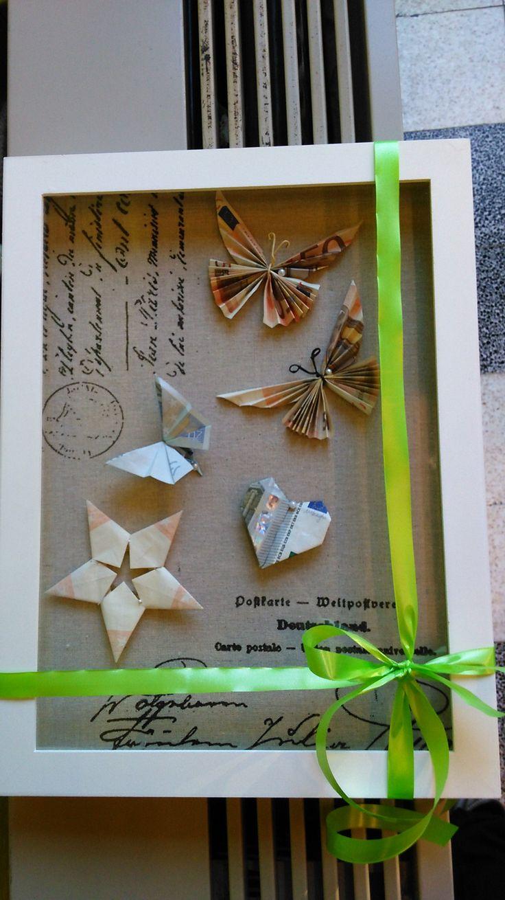 cadeau - cash geld - vouwen - vlinder, hartje - ster