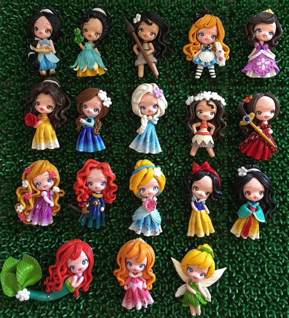 You will received 18 pcs princesses handmade clay Princesses clay is made with love and passion you have an option, you can purchase each princess or the whole set of princess every bead is handmade, no two beads will ever be exact. Also, please expect some minor imperfection. You
