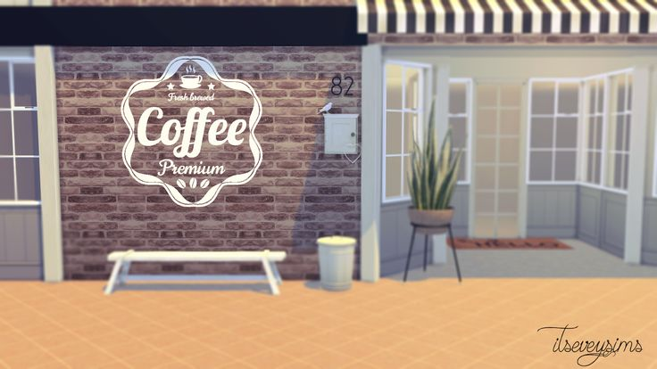The Sims 4 CC - Coffee Wall Decals