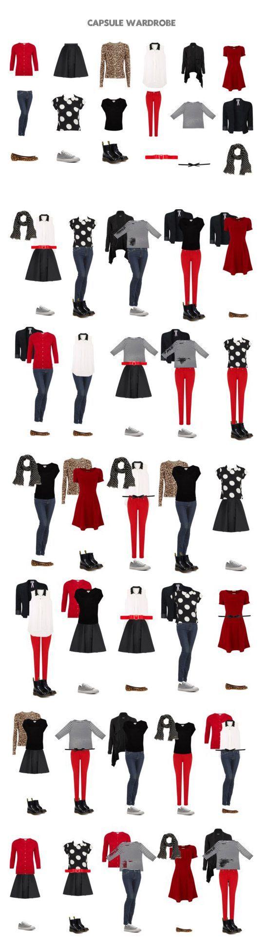 Примеры готовых капсульных гардеробов в разных стилях и цветовых гаммах и для разных климатических зон и инструкции по их сборке