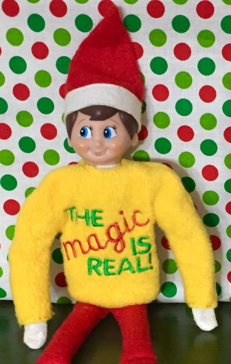 Shirt For Elf On The Shelf Quot The Magic Is Real Quot Christmas