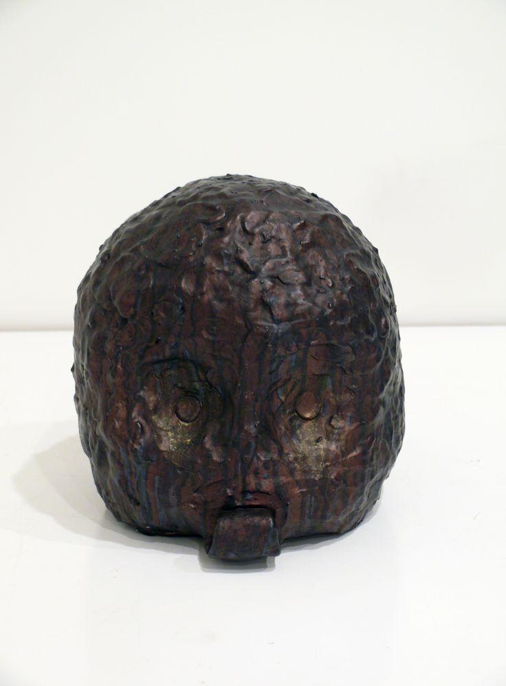 Graham Fletcher, 2014, Untitled (Head 5), cermaic and acrylic, 250 x 240 x 270mm