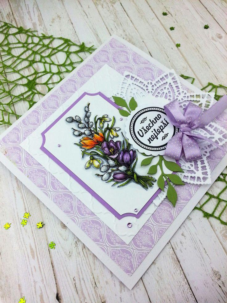 Spring Card Power Poppy Stamp