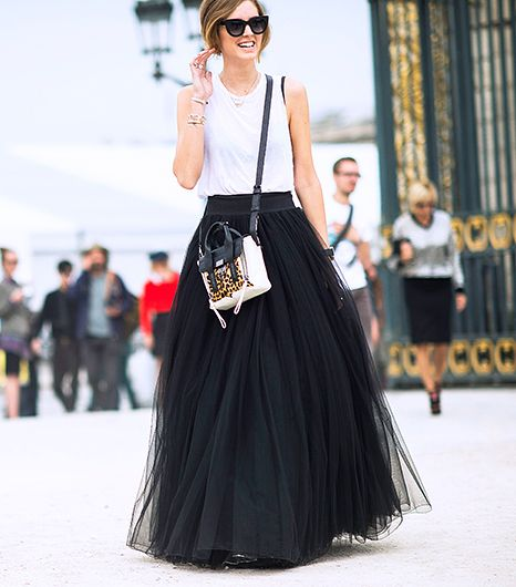 Channel your inner Black Swan with a tulle maxi like The Blonde Salad Chiara Ferragni's Alberta Ferretti version.