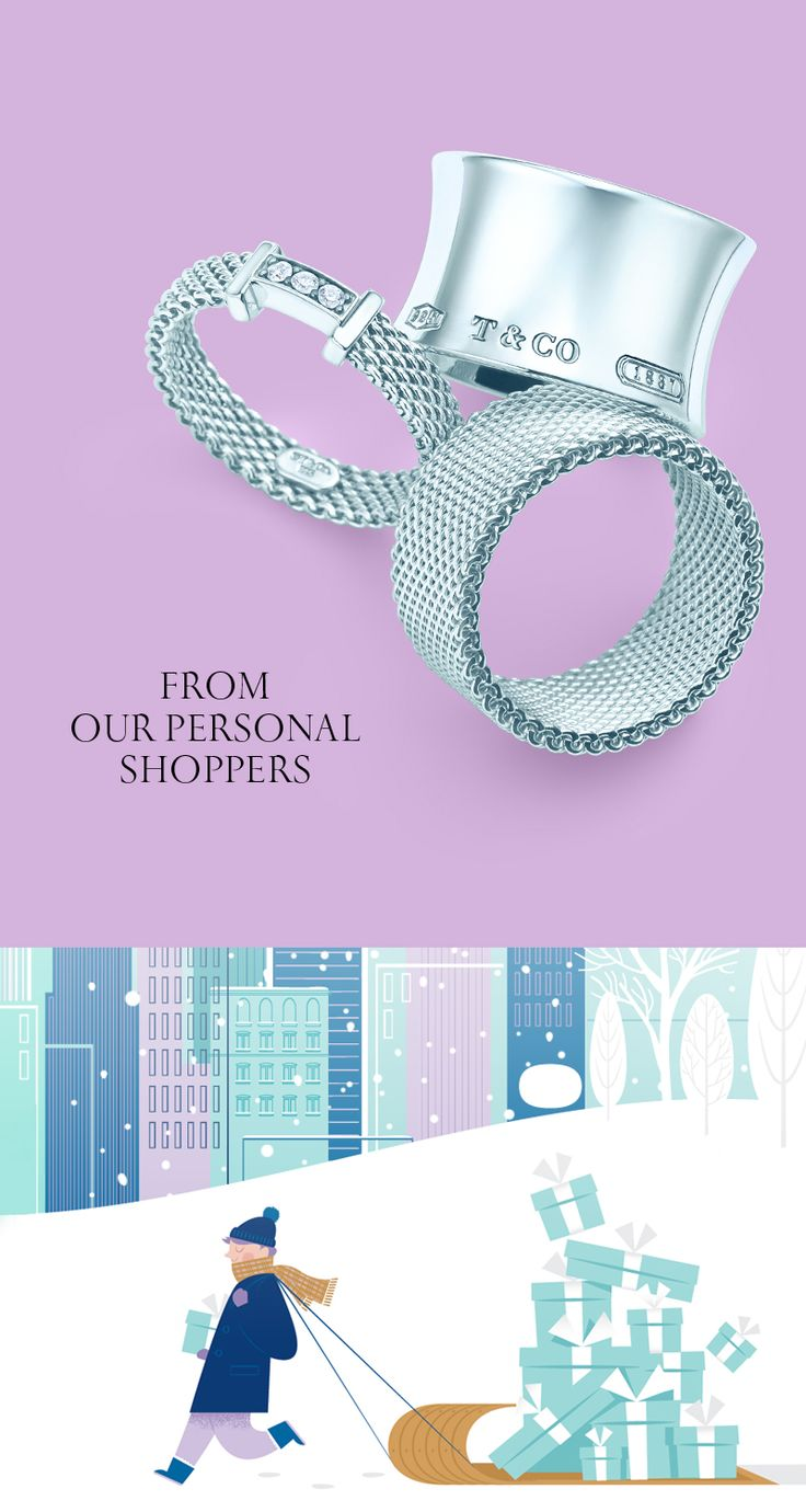 A sterling silver ring just might be her perfect present. #ATiffanyHoliday