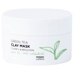 The Whamisa by Glow Recipe Green Tea Clay Mask helps to brighten skin, refine pores, balance oiliness, and banish breakouts with gentle, non-stripping and non-drying whipped White Clay. Formulated with antioxidant-rich Green Tea, a natural anti-inflammatory and Kale to brighten and refine troubled skin with high concentrations of vitamins A and C. <br>How to Use:<br> Spread a thin layer over cleansed, dry skin, avoiding the eye area. Leave on for 3-5 minutes. Wash off gently with ...