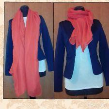 Sciarpa Pashmina Misto Cotone Colore Rosso/corallo   eBay