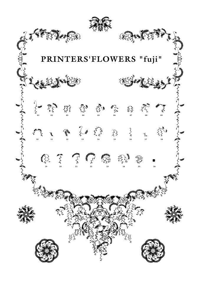 """PRINTERS'FLOWERS """"fuji"""""""