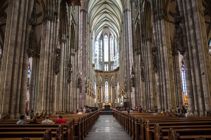 As impressive as its 157-meter tall twin towers is the cathedral's incredible interior.