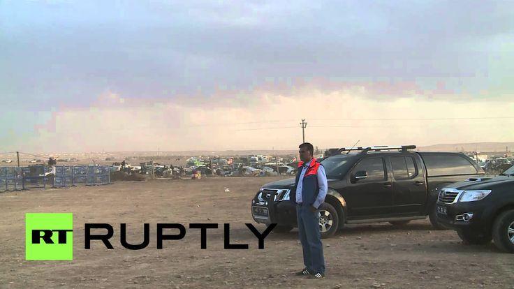 Turkey: See Turkish troops react to Kobane blasts