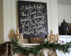 O Holy Night Mantle Canvas