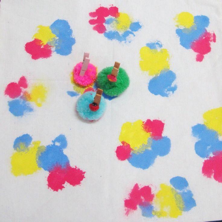 Pompom painting | kitty manu