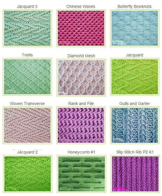 Slip Stitch Knitting Patterns Free : 25+ best ideas about Knitting stitch patterns on Pinterest Knit stitches, K...