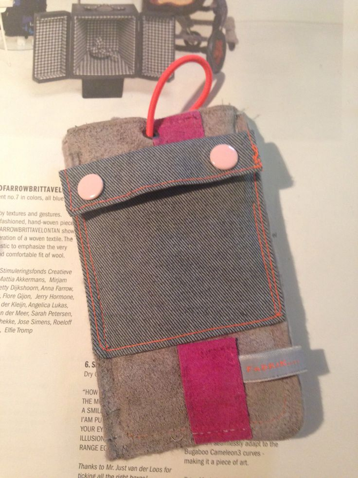 Phone cover with small pocket. For an iPhone 4 or similarly sized phone.