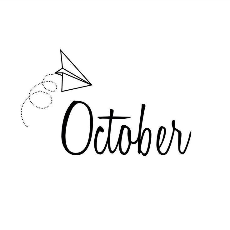 Oktober   October   Months   Fall   DIY   Paper Plane   Typography