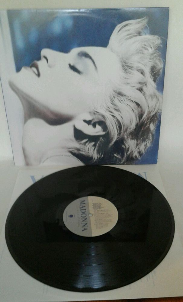 MADONNA ~ TRUE BLUE LP Record Album EX/EX  W1-25442 Papa don't Preach POP #Synthpop1980sSingerSongwriter