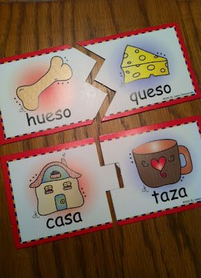 Spanish rhyming activities. Dual language teacher's blog.