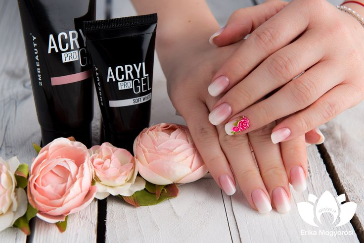 We love baby boomer!  #AcrylProGel #2MBeauty #nails #flower #nailart #lovelynails #perfectbabyboomer #nailshop