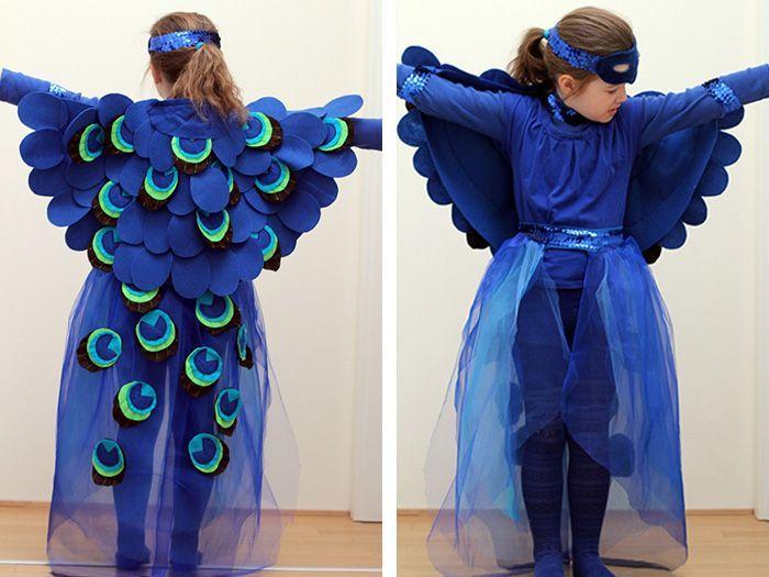 """Barbara von """"das mach ich nachts"""" stellt Dir heute ihr wundervolles Pfauen-Kostüm vor und zeigt Dir in dieser Schritt-für-Schritt-Anleitung wie Du es selber nähen kannst."""