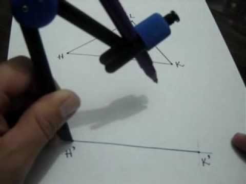 Construcción de un triángulo congruente a uno dado usando el postulado LLL: Julio Rios explica cómo construir un triángulo congruente a uno dado usando el postulado Lado Lado Lado (LLL)