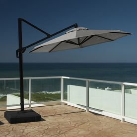 Rst Brands Charcoal Grey Offset Patio Umbrella (Common: 10 Ft W X 10