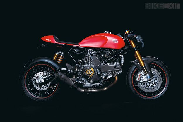 Marcus Walz of Walz Hardcore Cycles built this Ducati Sport 1000 cafe racer for Louis.de, the giant German moto accessories retailer.