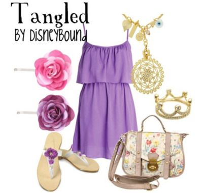 purple  ♥: Disney Princesses, Tangled, Disney Outfit, Inspiration Outfit, Disney Bound, Disneybound, Cute Outfit, The Dresses, Disney Movie