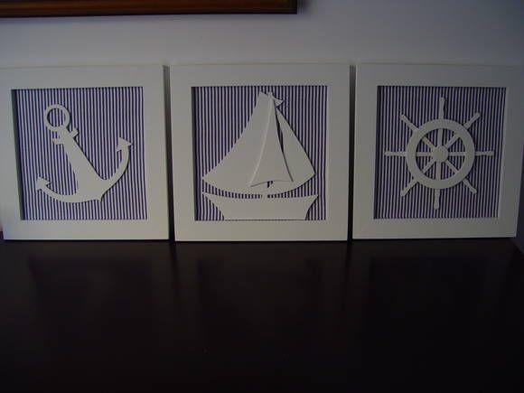 Ana Claudia,Quadros de decoração marinheiro,marcador de página náutico.