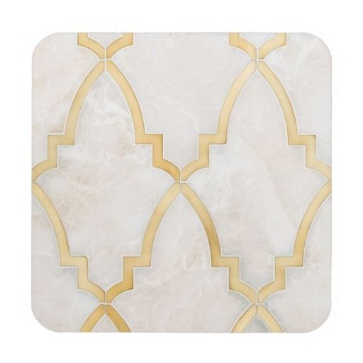 Gold Moroccan Marble Coasters
