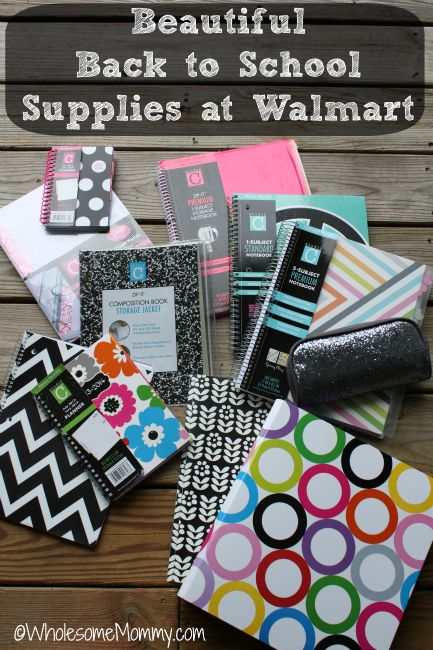 Super cute Back to School Supplies at Walmart...FOR LESS. From WholesomeMommy.com