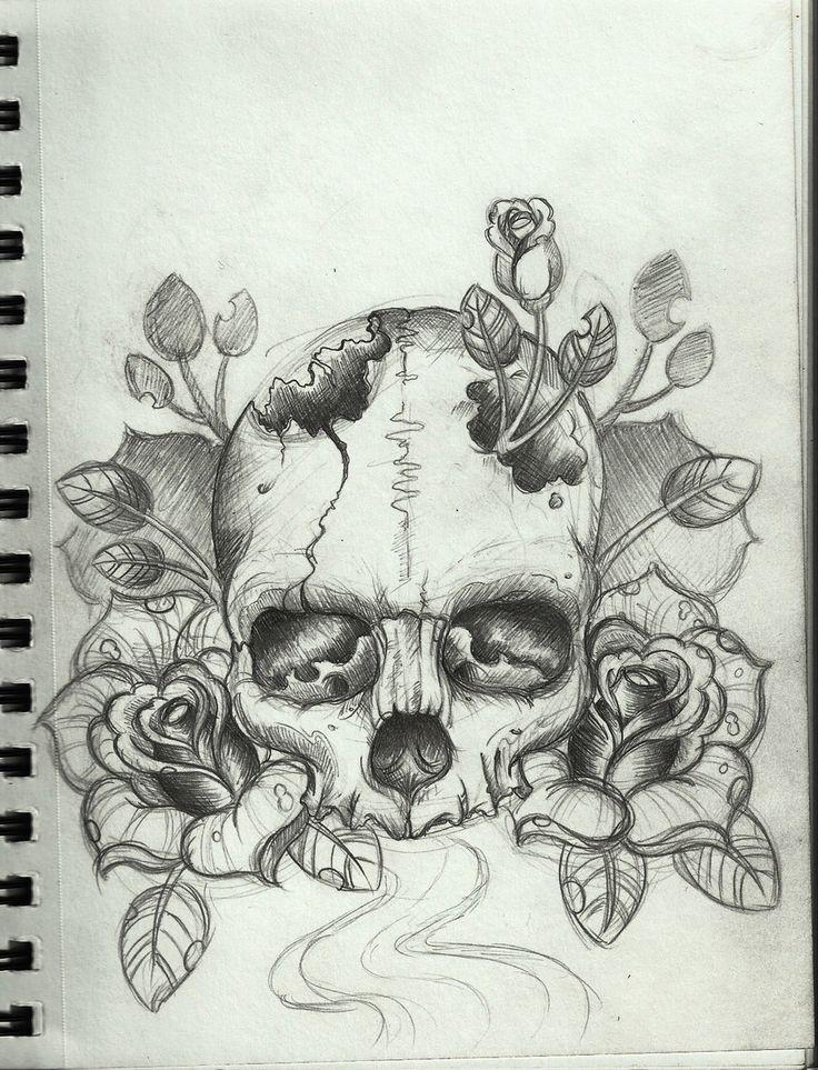 Skull+Tattoo+Design+by+Frosttattoo.deviantart.com+on+@deviantART