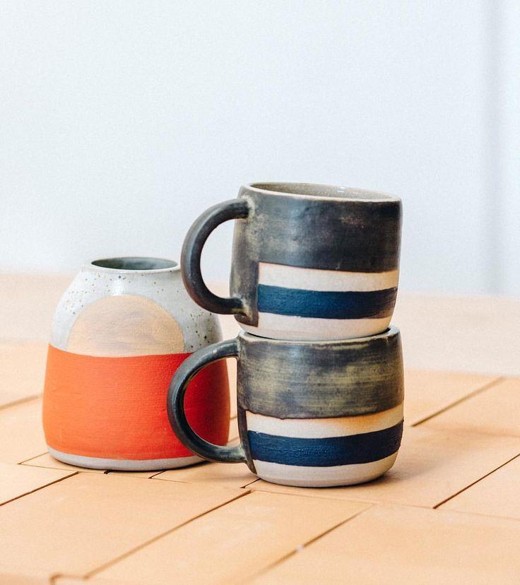 Amy Leeworthy vase and mugs