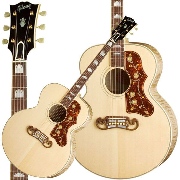 Gibson SJ-200. When it comes to acoustics, I'm a Martin guy.  But Gibson has given Martin a run for their money with great guitars like this one.
