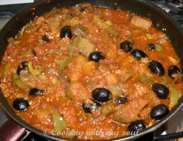 Conserva de vinete - Caponata ( Caponata - canning eggplant)Cooking with my soul