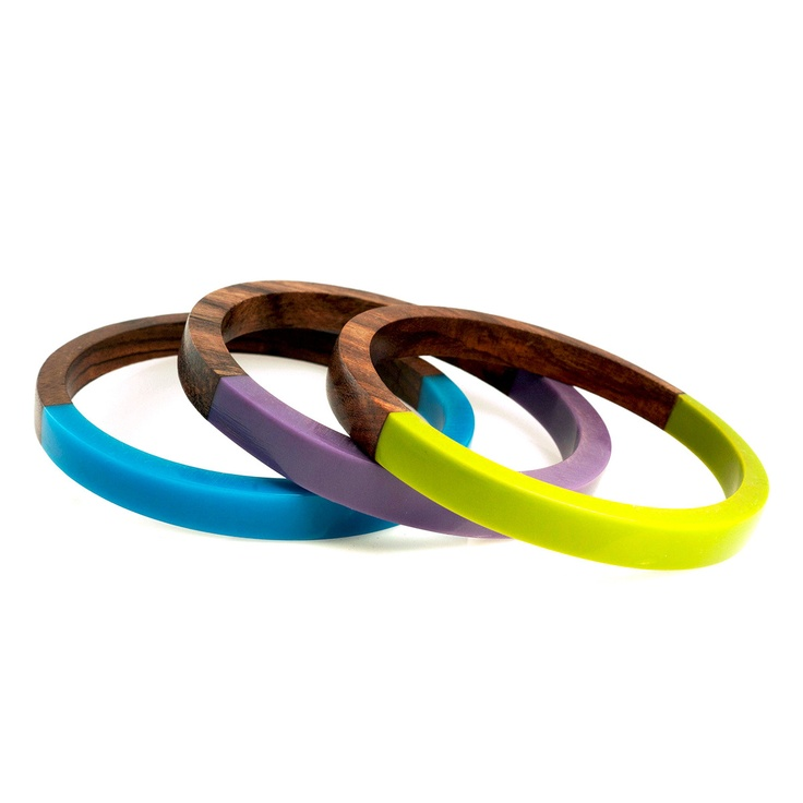 {Rhonda Bracelets} Alpana Bawa - wood + resin