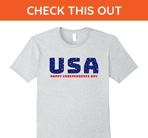 Mens USA Happy Independence Day July 4th Holiday T-Shirt Unisex   3XL Heather Grey - Holiday and seasonal shirts (*Amazon Partner-Link)