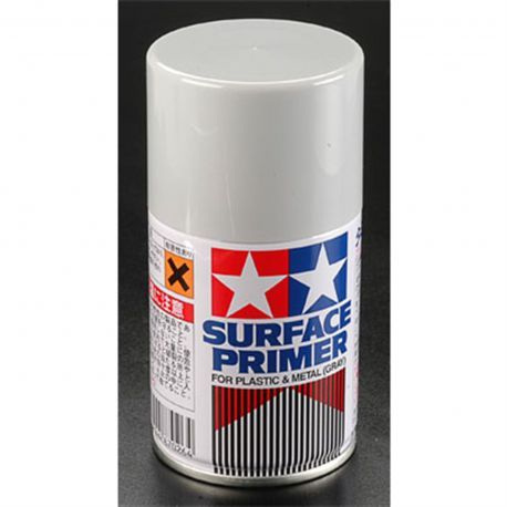 Tamiya Spray Surface Primer/Plastic Metal 3 oz TAM87026