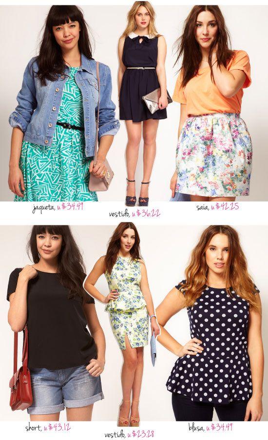 Plus size, tamanhos grandes, asos, Curve, roupas, jaqueta, vestido, shor jeans, saia floral, blusa peplum,
