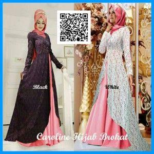 Baju Caroline Hijab Brokat | Baju Muslim Terbaru