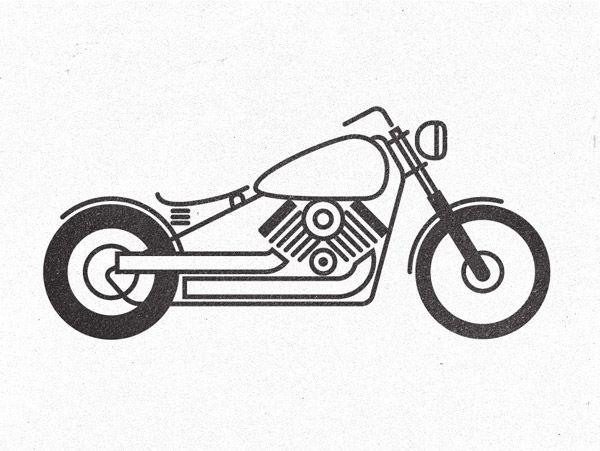 Pictogramme moto de style illustration
