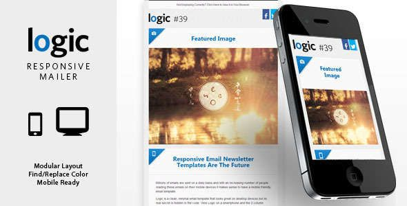 180 Absolute Best Responsive Email Templates - Logic - Responsive Email Newsletter Template