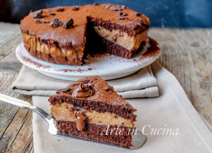 Torta versata nutella, cioccolato con ricotta, dolce facile, torta veloce, dolce goloso, torta morbida, dolce da merenda, colazione, dolce con ricotta buono dopo cena