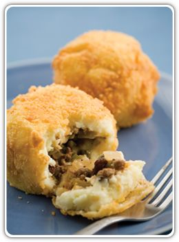 Papa Rellena - Stuffed Mashed Potato Balls - Hispanic Kitchen