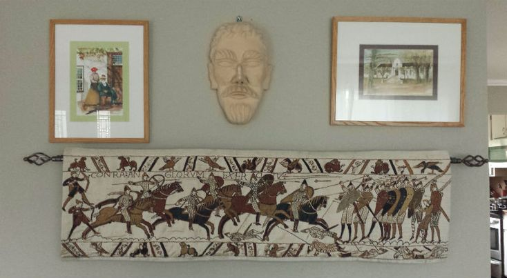 The most popular of the Bayeux Tapestry wallhangings and our favourite, woven in Belgium. Numerous scenes are available today but, if you are buying just one Bayeux Tapestry, this Battle wall-hanging should be considered.