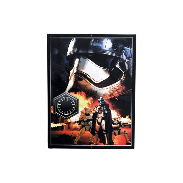 Star Wars: Episode VII The Force Awakens Captain Phasma Tin Sign, Multicolor