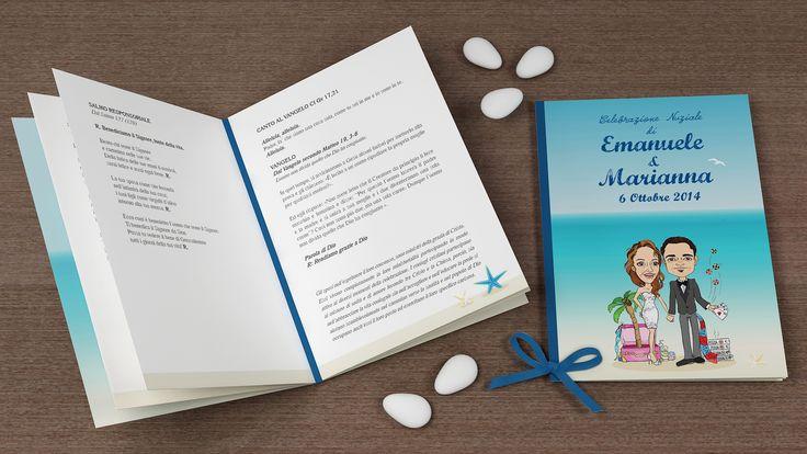 Libretto messa con illustrazione personalizzata